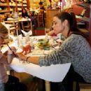 Denise Richards eating & shopping with kids in LA, December 20, 2010