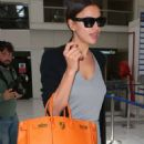 Irina Shayk Arrives At Airport In Nice