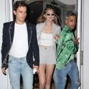 Gigi Hadid – Exits ABC Kitchen with Tan France and Antoni Porowski in New York City