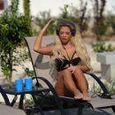 Bianca Gascoigne in Black Bikini in Cyprus - 454 x 382