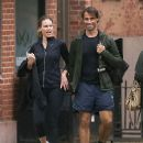 Hilary Swank and Laurent Fleury: tennis day