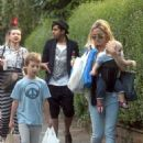 Kate Hudson out and about with her sons, Ryder and Bingham, in London, UK (August 8)