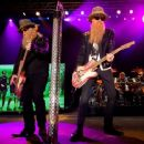 Dusty Hill and Billy Gibbons of ZZ Top perform onstage during day two of 2015 Stagecoach, California's Country Music Festival, at The Empire Polo Club on April 25, 2015 in Indio, California. - 454 x 365