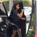 Sofia Richie in Shorts at a  gas station in Los Angeles