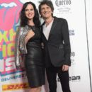 Sally Humphreys and Ronnie Wood attend The Rolling Stones - Exhibitionism Opening Night at Industria Superstudio on November 15, 2016 in New York City - 402 x 600