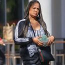 Laila Ali – Shopping candids in Los Angeles