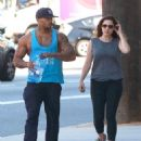 Kelly Brook Gym Candids In West Hollywood