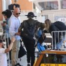 Cara Delevingne – On a water taxi ride at Grand Canal in Venice