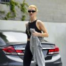 Rosie Huntington Whiteley – Leaving Body by Simone fitness club in Los Angeles