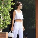 Kendall Jenner – All in white seen outside Soho House in Malibu
