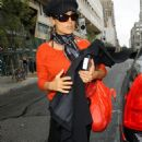 Salma Hayek Leaving And Attending Her Hotel In NYC, October 9 2009