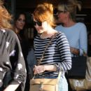 Actress Emma Stone is seen leaving the Meche Salon in West Hollywood, California on June 8, 2016 - 445 x 600