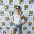 Emily Bett Rickards-   Comic-Con International 2018 - 'Arrow' Special Video Presentation And Q&A - 454 x 391