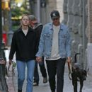 Melissa Benoist and boyfriend Chris Wood walk the dogs in Vancouver - 454 x 553