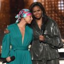 Alicia Keys and Michelle Obama At The 61st Annual Grammy Awards - Show - 454 x 529