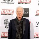 Jimmy Page, 75, is joined by girlfriend Scarlett Sabet, 29, at the Kerrang! Awards as the Led Zeppelin guitarist received Icon gong - 454 x 703