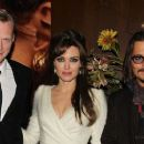 "Paul Bettany, Angelina Jolie, Johnny Depp at premiere of ""The Tourist"""