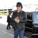 Gene Simmons is seen at LAX
