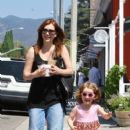 Alyson Hannigan: went to Cafe Luxxe in LA