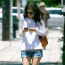 Rachel Bilson: out for lunch with some friends at Little Dom's in Los Feliz