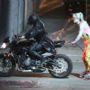 Margot Robbie – Films a dangerous action scene for 'Birds of Prey' in Los Angeles