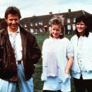 Drama: Actors George Costigan Michelle Holmes, Siobhan Finneran from the 1986 film of Rita, Sue and Bob Too written by Lorrain's mother Andrea