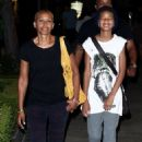 Willow Smith steps out with her grandmother Adrienne Banfield-Jones for the evening at the Calabasas Commons in California (June 30)