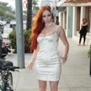 Phoebe Price in Tight Mini Dress – Out in Beverly Hills - 454 x 681