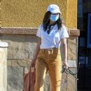 Jamie Chung – Wearing colored jeans as she runs errands in Los Angeles - 454 x 681