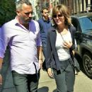 Lisa Rinna – white top worn with jogging suit in New York City - 454 x 600
