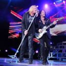 Joe Elliott - During Def Leppard's performance at the Cruzan Amphitheatre in West Palm Beach, Florida on June 15, 2011 - 454 x 363