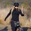 Fergie takes a hike in the Santa Monica Mountains