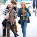 Naomi Watts is all smiles while out and about in New York City, New York with her mom Myfanwy Edwards Roberts on October 17, 2016 - 454 x 546