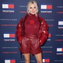 Pixie Lott – Wears Red Leather Shorts at TOMMYNOW London Spring 2020 at LFW - 454 x 681