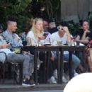 Sophie Turner and Joe Jonas – Out for some lunch in Barcelona - 454 x 302