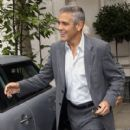 George Clooney Goes to His Hotel