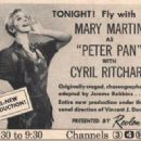 Peter Pan 1960 Television Musical Theatre Speical - 454 x 328