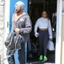 Jennifer Lopez seen leaving a gym after working out in Miami, Florida on March 16, 2017 - 454 x 592
