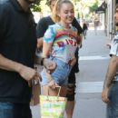 Miley Cyrus in Denim Shorts – Out in NYC