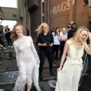 The Photographer Annie Leibovitz, Elle Fanning and Dakota Fanning- Vanity Fair Magazine Pictorial [United States] (March 2017) - Behind The Scenes