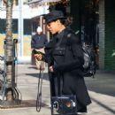 Rosario Dawson – Catching a cab in New York - 454 x 730