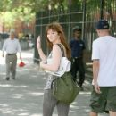 Amber Tamblyn Is Spotted Out With Her Man David Cross. The Couple Can Be Seen Walking A Cute Dog Around The East Village, 2008-08-04