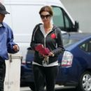 Maria Shriver: leaves a cafe in Los Angeles
