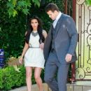 Kim Kardashian & Kris Humphries leave her house in Beverly Hills as they head out to tape appearances on Ellen and The Tonight Show. 10/4/2011