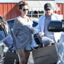 Kate Beckinsale and her husband, Len Wiseman, out shopping at James Perse at the Brentwood Country Mart in Brentwood, CA (July 9)