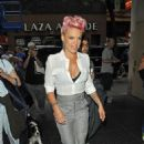 Pink arriving at the 'Today Show' (July 9)