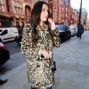 Cheryl Tweedy in Animal Print Coat – Scott's Eatery in Mayfair