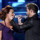 Demi Lovato & Pablo Alborán performing at the 2011 Latin Grammy Awards