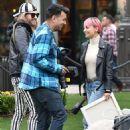 Nicole Richie Filming A Segment At Americana At Brand In Glendale