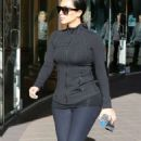 Kim Kardashian In Spandex Headed The Gym In La